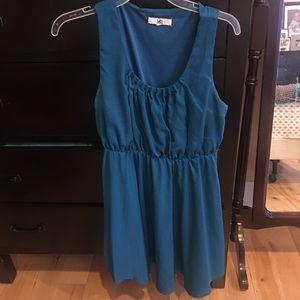 Ya Los Angeles dress - teal . Mini dress cute!!